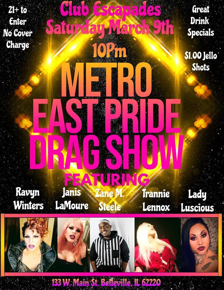 MetroEast Drag Show March 9